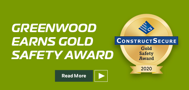 Greenwood Earns Gold Safety Award 2020